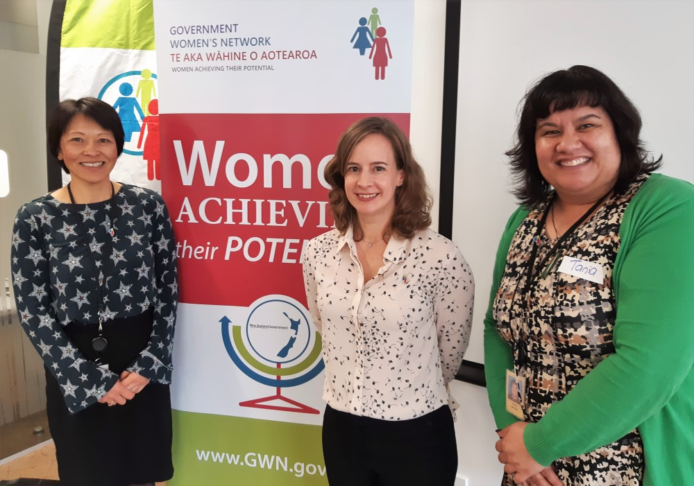 Liz Chin, Jane Hodgen and Tania Sauvao from Inland Revenue's Women's Network