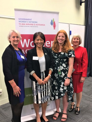 Liz, Ruth, Hilary and Carol at the Speaking with Confidence event